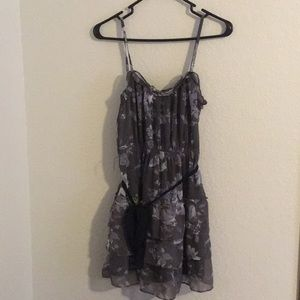 Women's American Eagle Floral Ruffle Dress